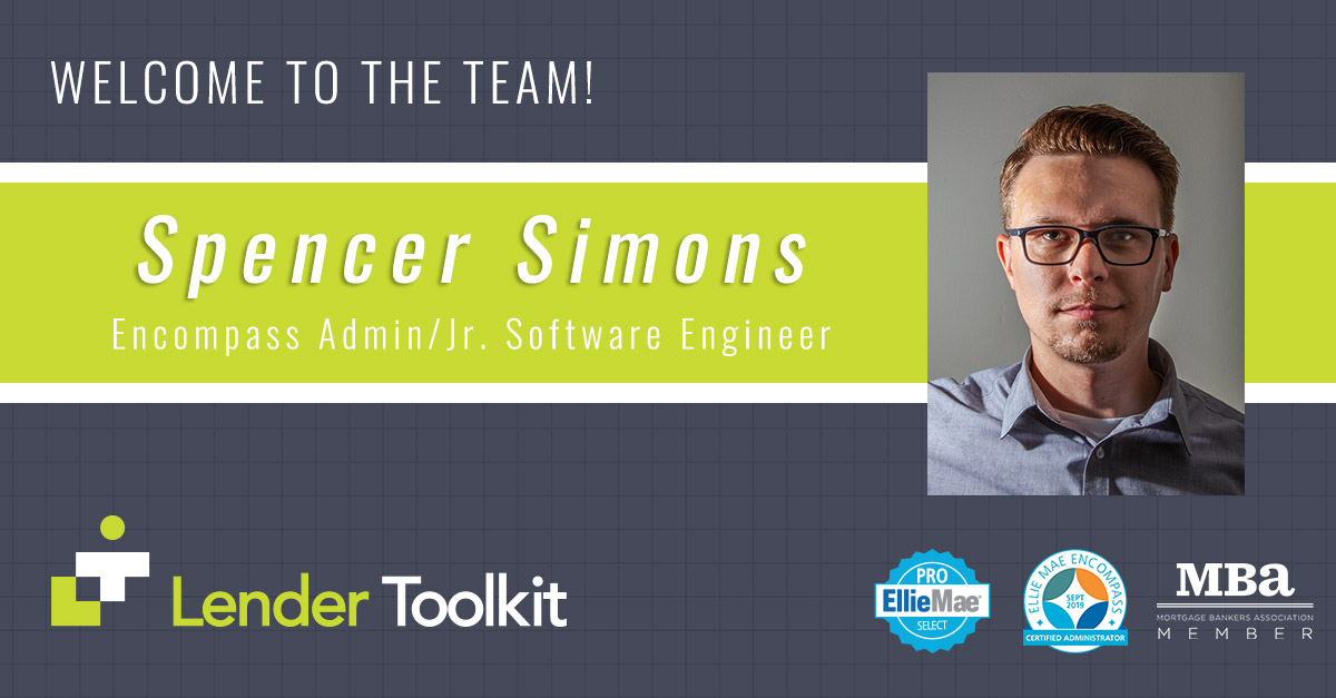 Spencer Simons - Welcome to the Lender Toolkit Team!