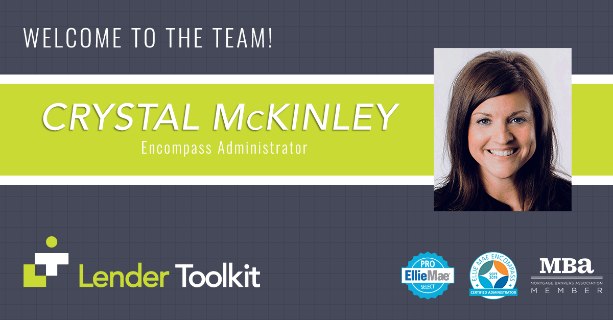 Lender Toolkit Welcomes Crystal McKinley!