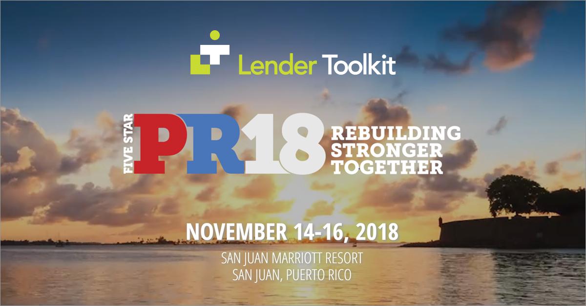 Lender Toolkit at PR18