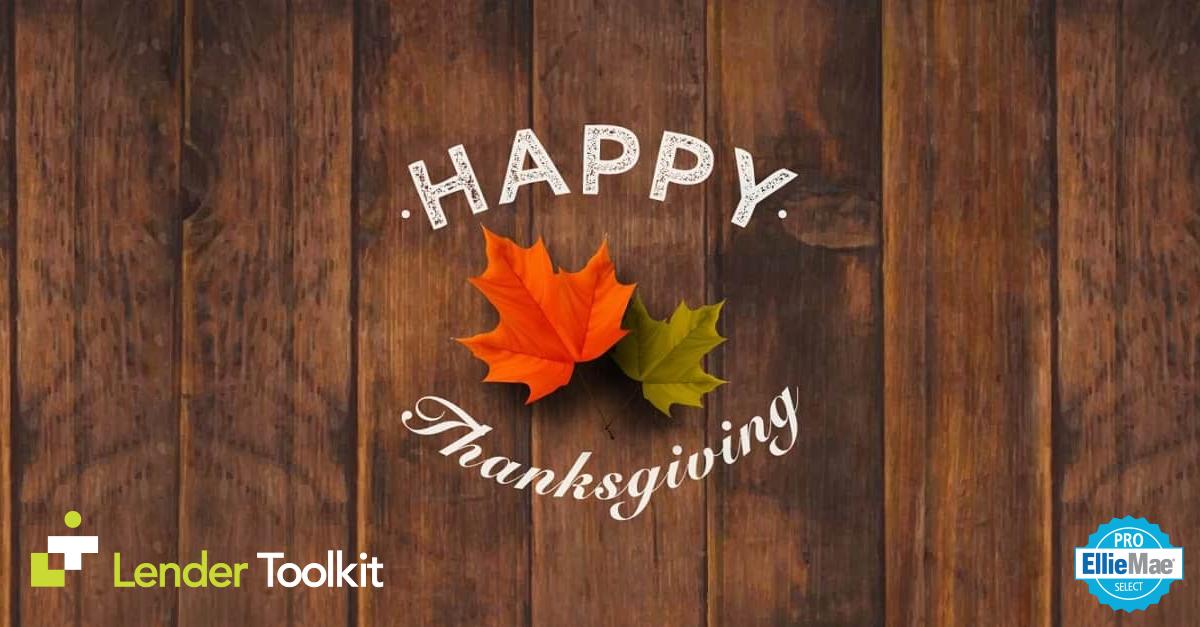 Happy Thanksgiving 2018!