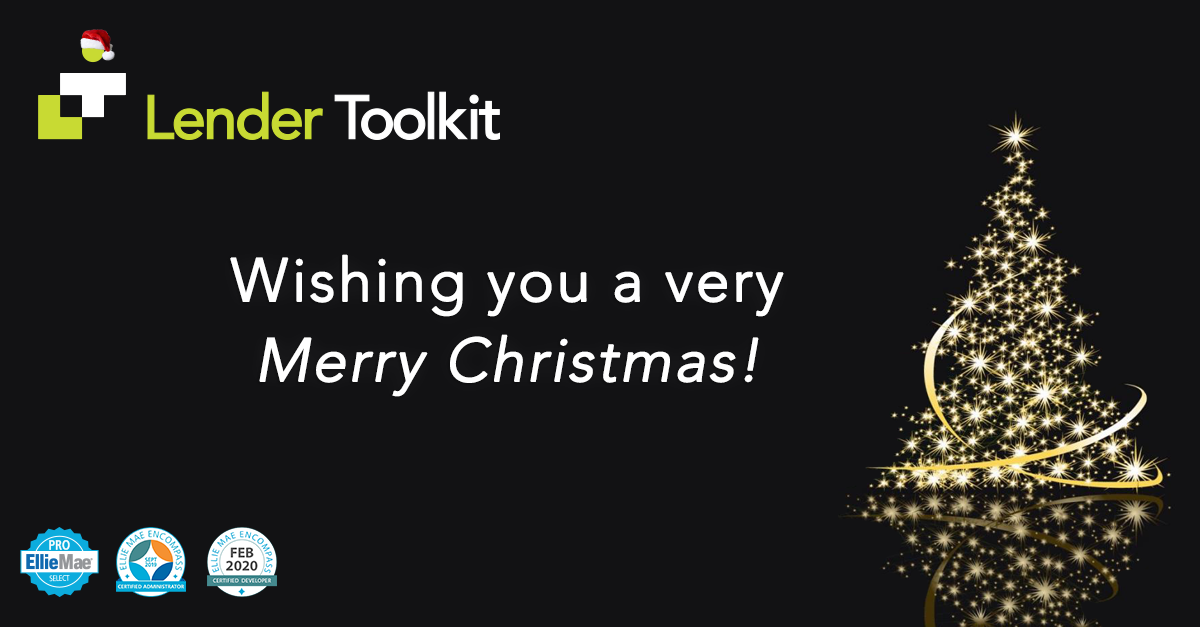 Lender Toolkit - Wishing you a very Merry Christmas!