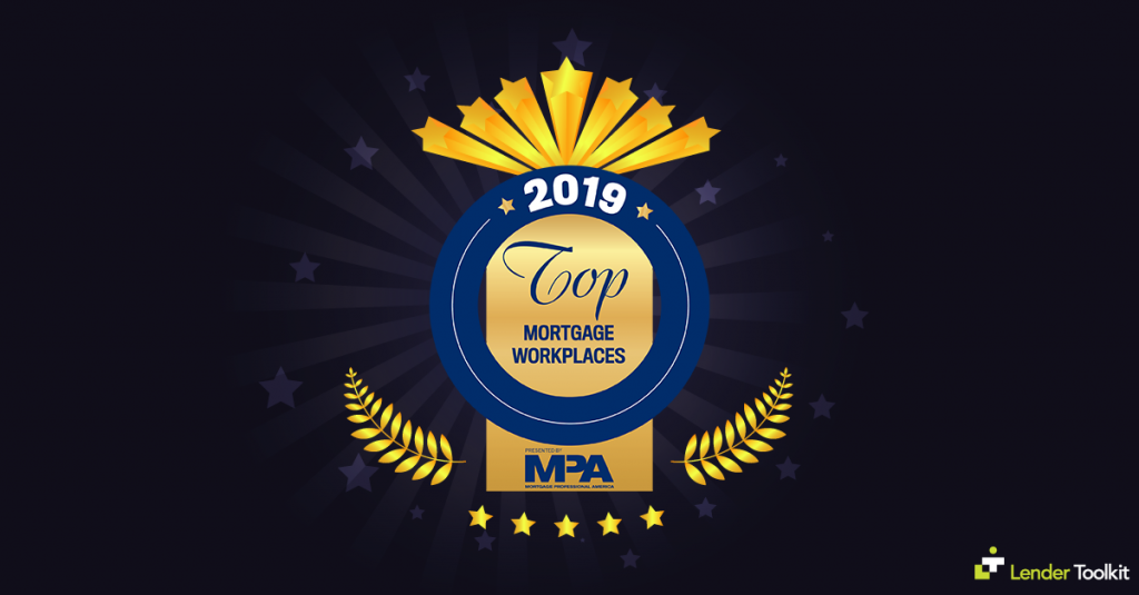 Lender Toolkit Wins the Top Mortgage Workplaces for 2019!