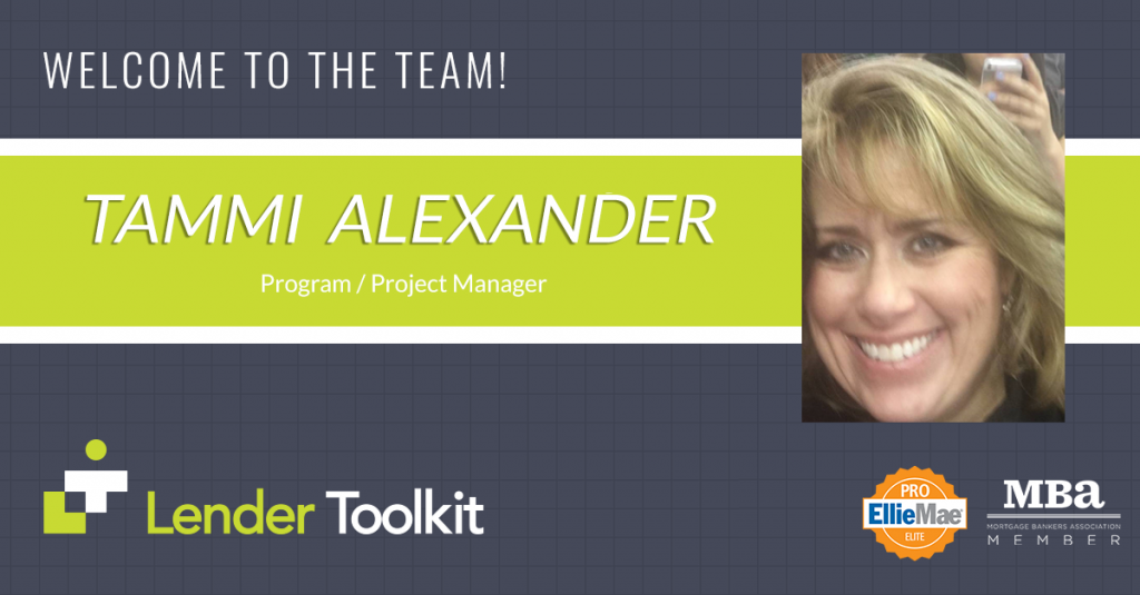 Lender Toolkit Welcomes Tammi Alexander!