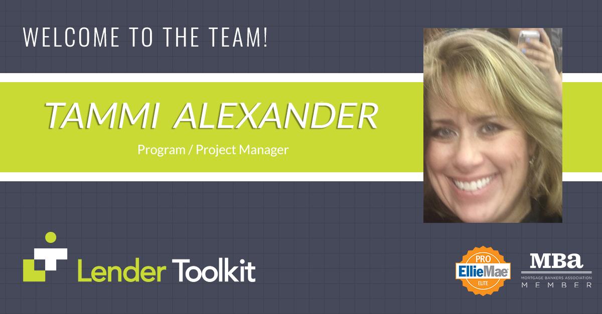 Lender Toolkit Welcomes Tammi Alexander!