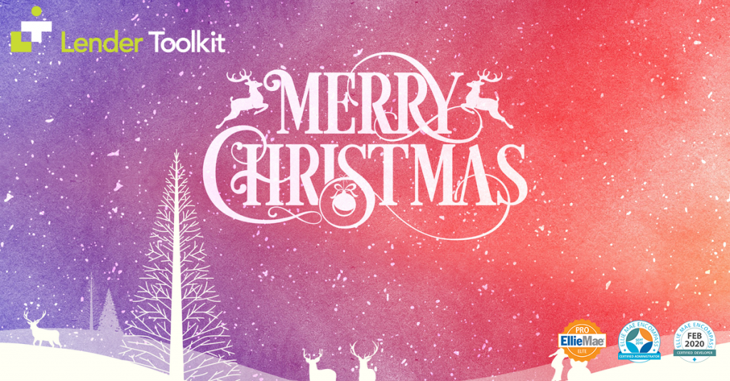 Merry Christmas 2019 from Lender Toolkit