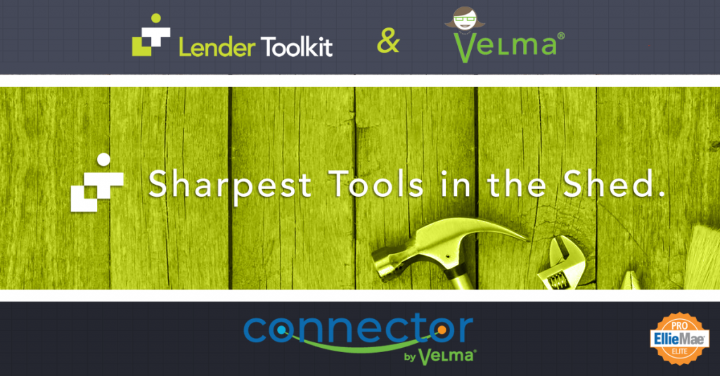 Lender Toolkit and Velma Partnership and Build Connector