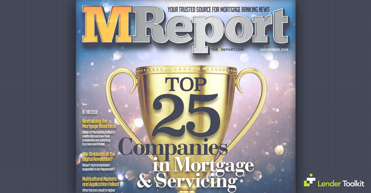 Lender Toolkit Makes the M Report's Top 25 List!